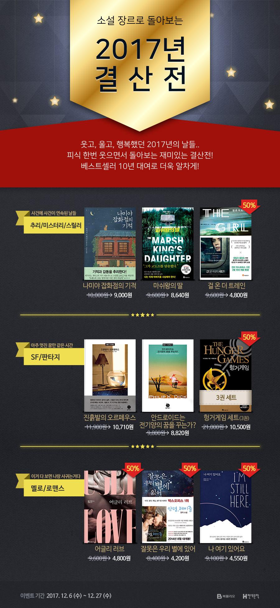 북폴리오, 현대문학 2017 소설 결산전